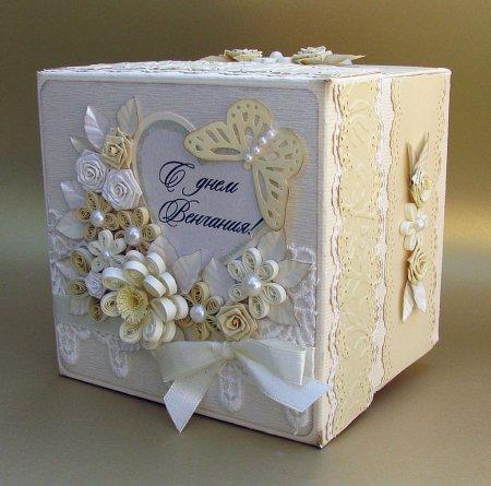 Как сделать коробку на свадьбу своими руками