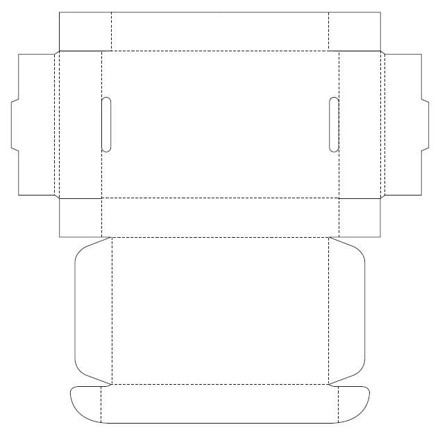 руками из картона: схема