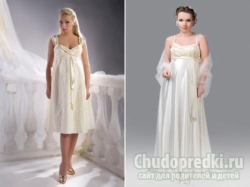 Комментарий: Но всё-таки большая часть невест интересуется именно тем, где можно будет купить недорогие свадебные платья для беременных