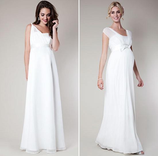 Как выбрать свадебное платье для беременных, чтобы подчеркнуть