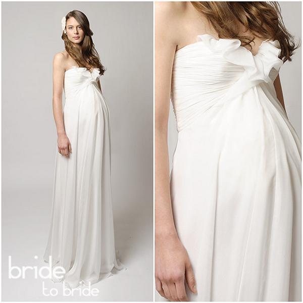 Свадебные платья для беременных (фото и советы). Короткие и греческие платья для беременных