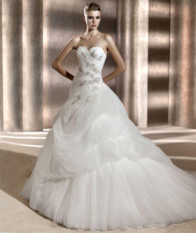 Свадебные платья с пышной юбкой, фото