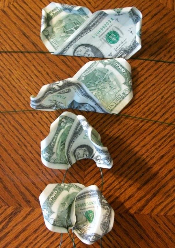 Как сделать букет из денег своими руками для начинающих фото пошагово