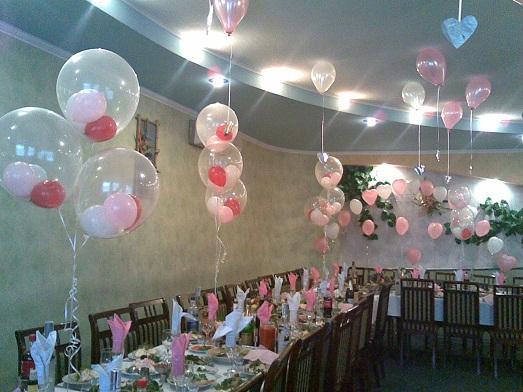 Украшения зала шарами своими руками фото